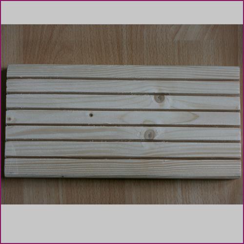 Holz-Display rechteckig